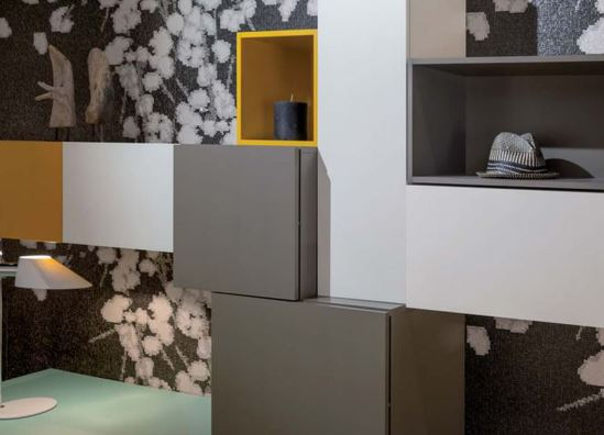 Cupboards and shelves with Infiniti ColorCore laminate