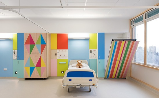 Designs by Morag Myerscough at Sheffield Hospital