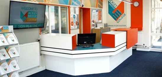 Ackley Bridge reception area