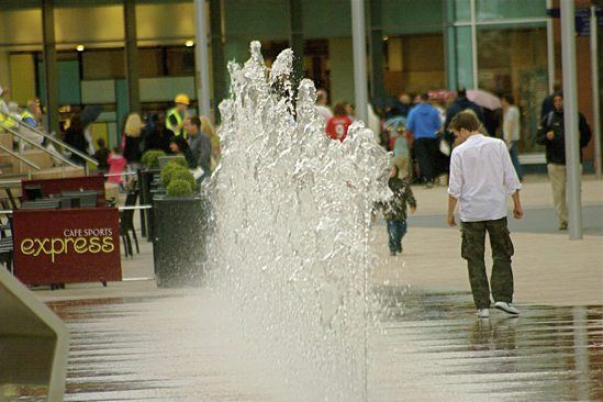 Dry plaza fountain, Liverpool One Paradise Street