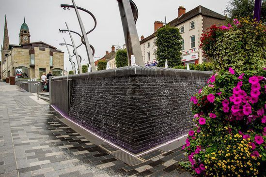 Water features, Lisburn Town Centre