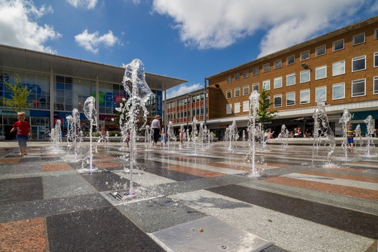 50-jet plaza water feature -Crawley