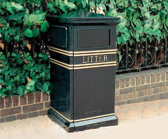 COV702LR Covent Garden cast iron square Litter Bin