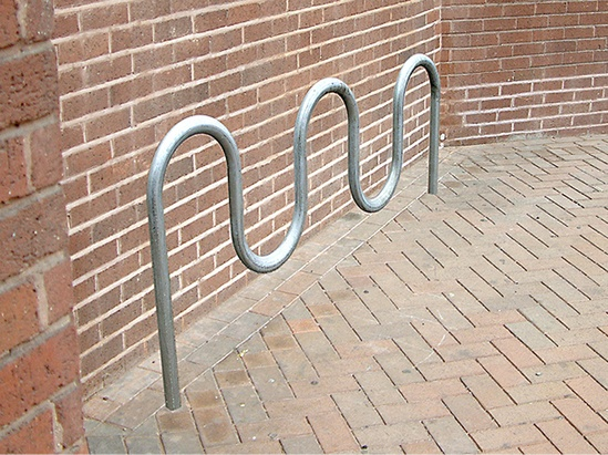 NOR303 Nordic galvanised steel cycle stand