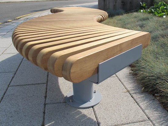 Railroad loop straight and curved modular seating range furnitubes international esi Curved bench seating