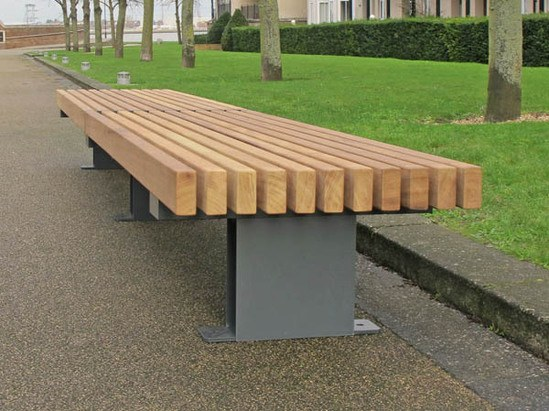 Railroad inline edge straight seats benches for International seating and decor