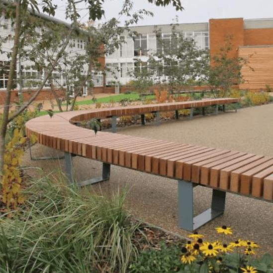 Bespoke RailRoad benches - Haberdashers' Aske's School