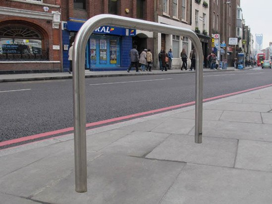 Sheffield satin polished stainless steel cycle stand
