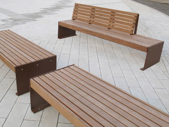 Elements XL Plate End Seat & Bench