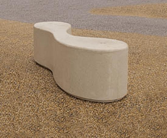 Marlborough concrete bench at Dudley Zoo entrance