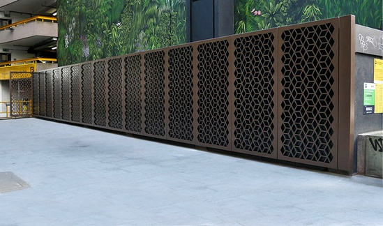 Bespoke decorative screens for London public realm