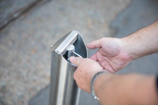 Zenith® foot pedal hand sanitiser dispenser