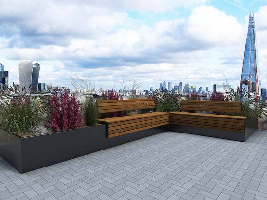 AKRI® 300 raised steel planter system - PPC