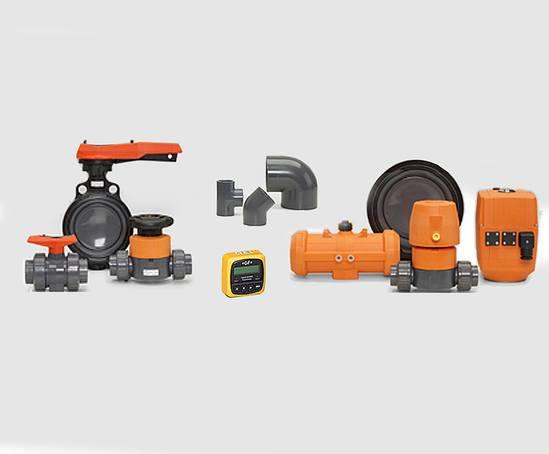 PVC-U industrial piping system