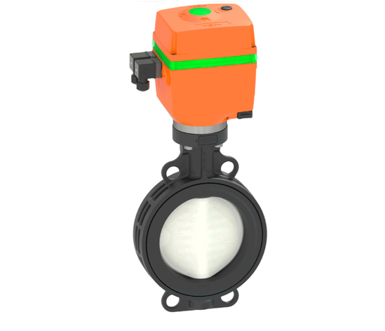 Type 565 butterfly valve with electric actuator