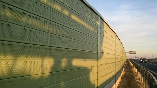 Recycled PVC CE marked road noise barrier