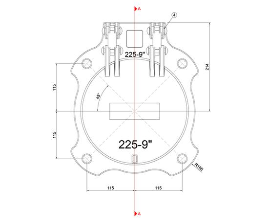 Althon 225mm Ductile Iron Flap Valve