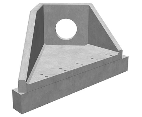 Althon angled precast concrete headwalls