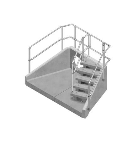 SFA concrete headwall with precast steps