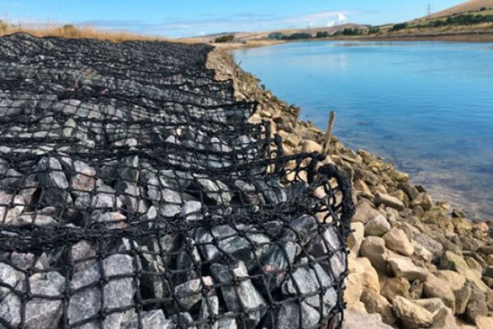 Rock Rolls provide coastal erosion and scour protection