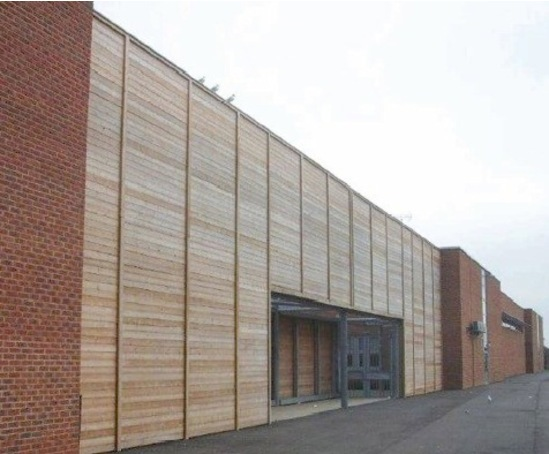 Bespoke acoustic sound barrier, Barnfield South Academy