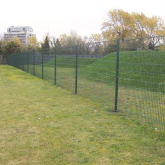 EuroGuard fencing separating the BMX track from the res