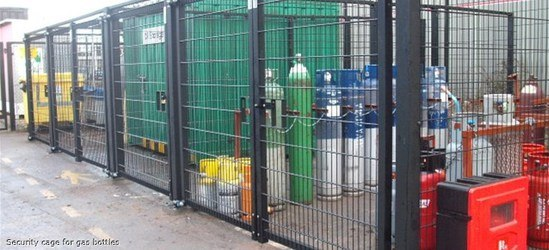 Security compound for gas bottles