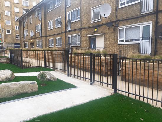 Sentry Residential fencing garden area