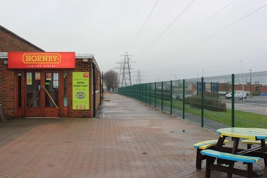 Welded mesh security fencing for visitor centre