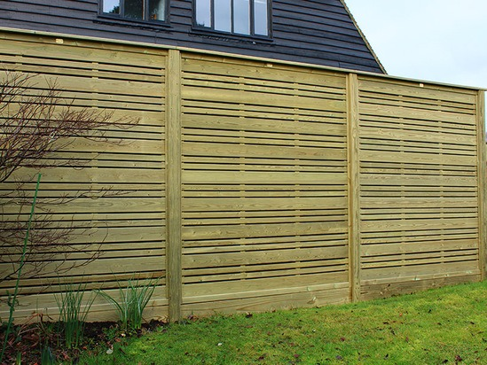 Urban residential timber fence panel