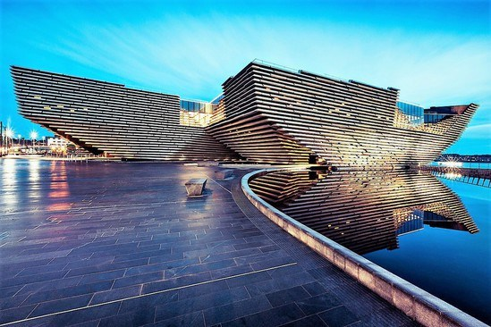 V & A Dundee with natural stone hard landscaping