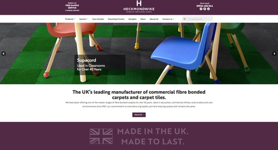 Heckkmondwike rebrand includes website relaunh