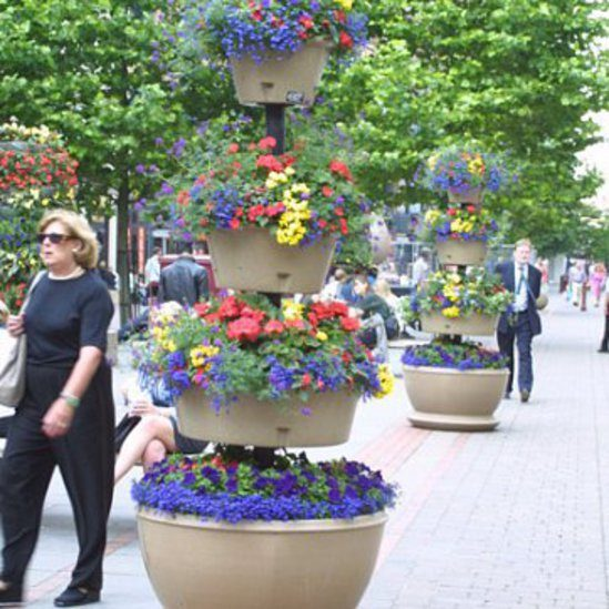Circular Precinct self-watering tiered planters