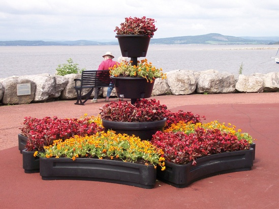 Petal planters, with Floral Fountain