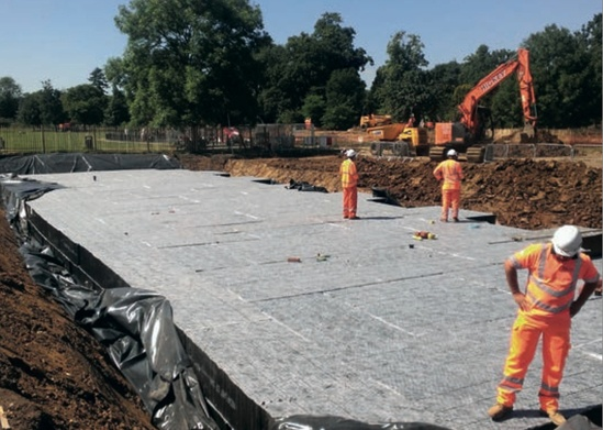 Installation of Stormcell® modular storage tank