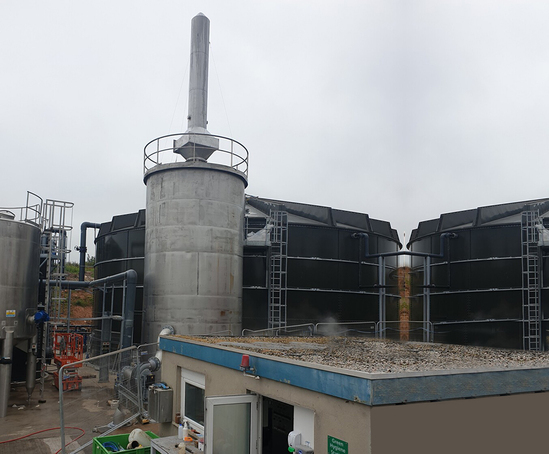 The bioscrubber consists of a 4.2m diameter tower