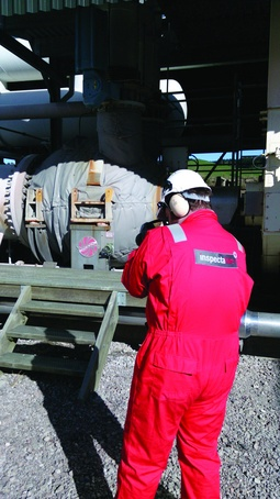 Optical gas detection survey being undertaken