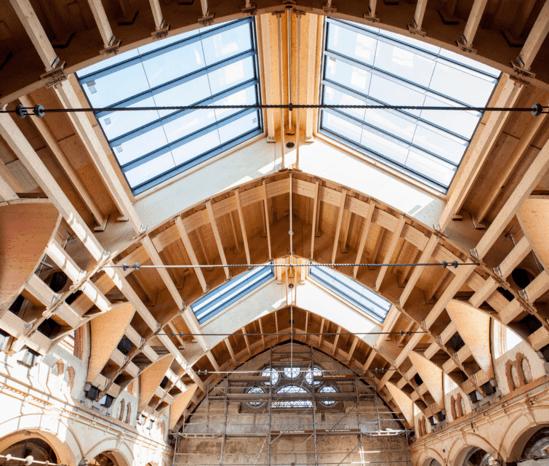 Kerto LVL repairs spa roof