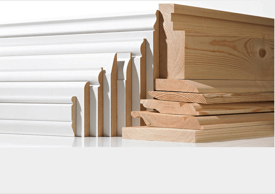 Skirting boards in various sizes and profiles
