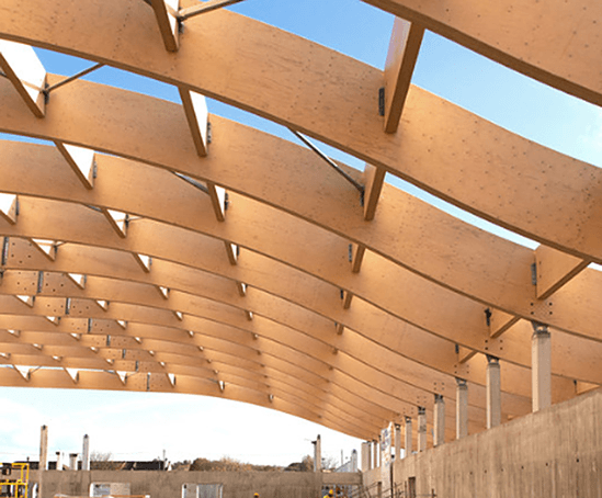 Lightweight engineered Kerto LVL roof trusses