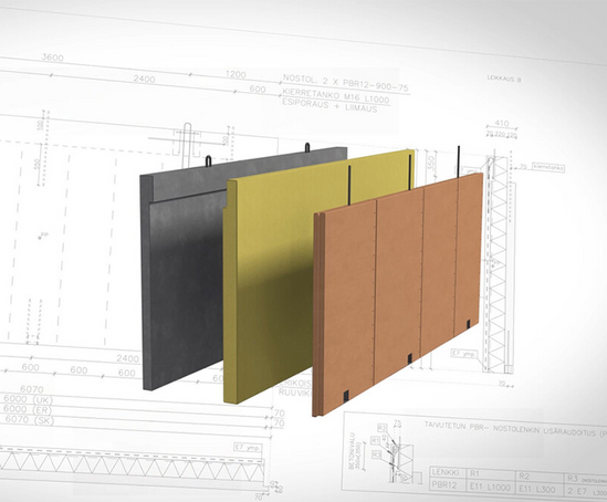 Hybrid LVL timber and concrete sandwich wall element
