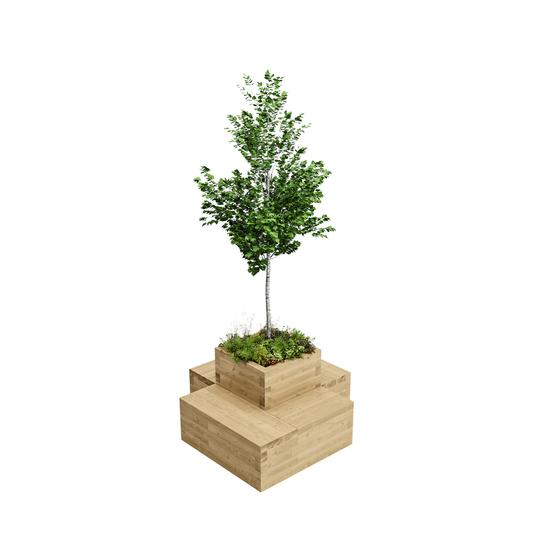 WoodBlocX Small Drumbeg Tree Planter
