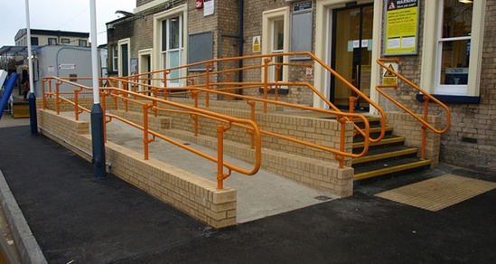 DDA Handrails at Staines railway station