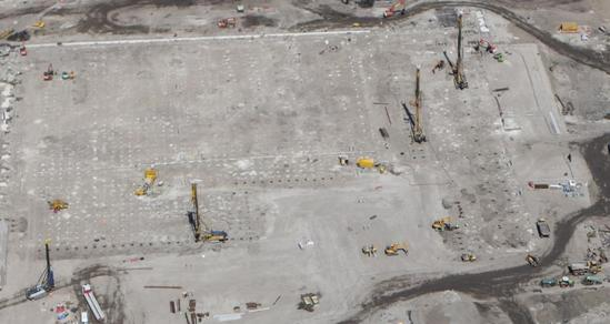 Driven cast in-situ piles for high-bay storage facility