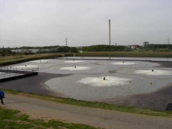 Aqua Turbo® AER-AS floating aerators at Snodland Works