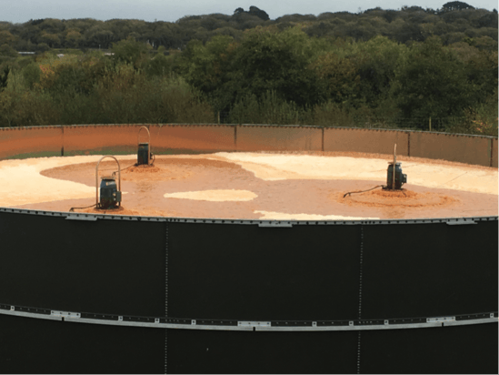 Aqua Turbo aerators in creamery treatment tank