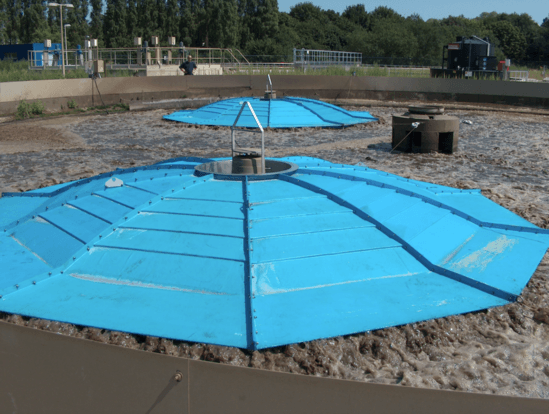 Aerator floating cover at WWTW