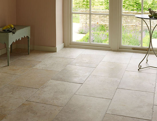 Jerusalem White Gold Tumbled Limestone Tiles Mandarin