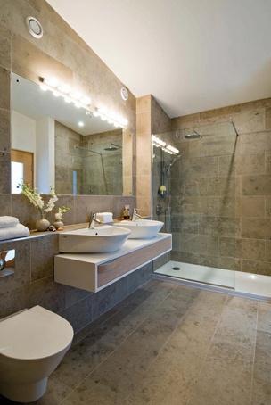 Jura Grey honed limestone tiles for bathroom