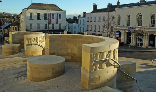 3D design of stone for Chepstow public realm